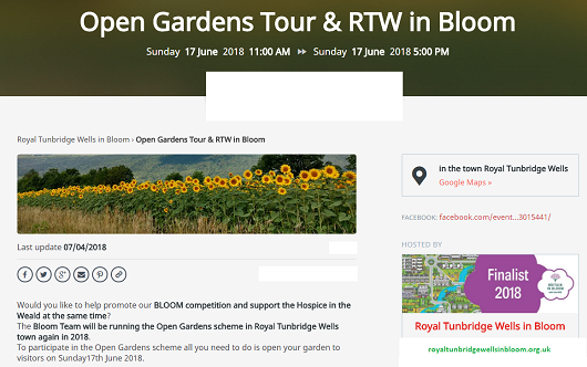 Royal Tunbridge Wells in Bloom - Sunday 17 June 2018 - Evensi listing